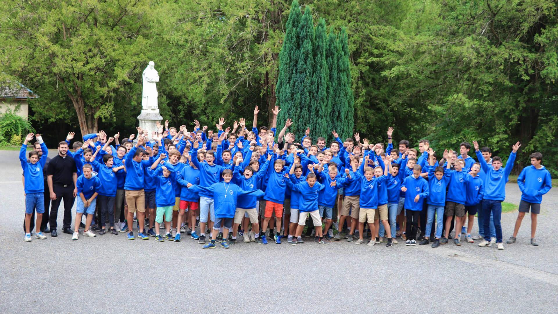 Au camp Alpes Top Aventure avec les garçons de l'ECyD en juillet 2019