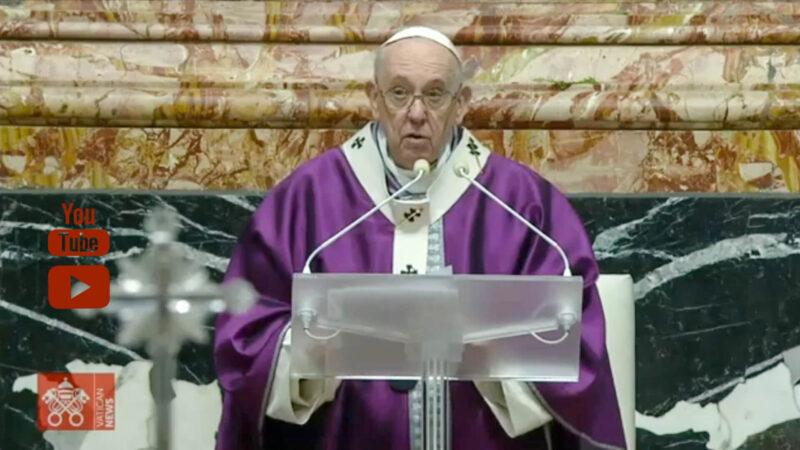 Homélie de la messe des Cendres du pape François