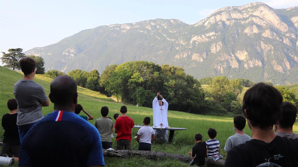 Messe dans les Alpes